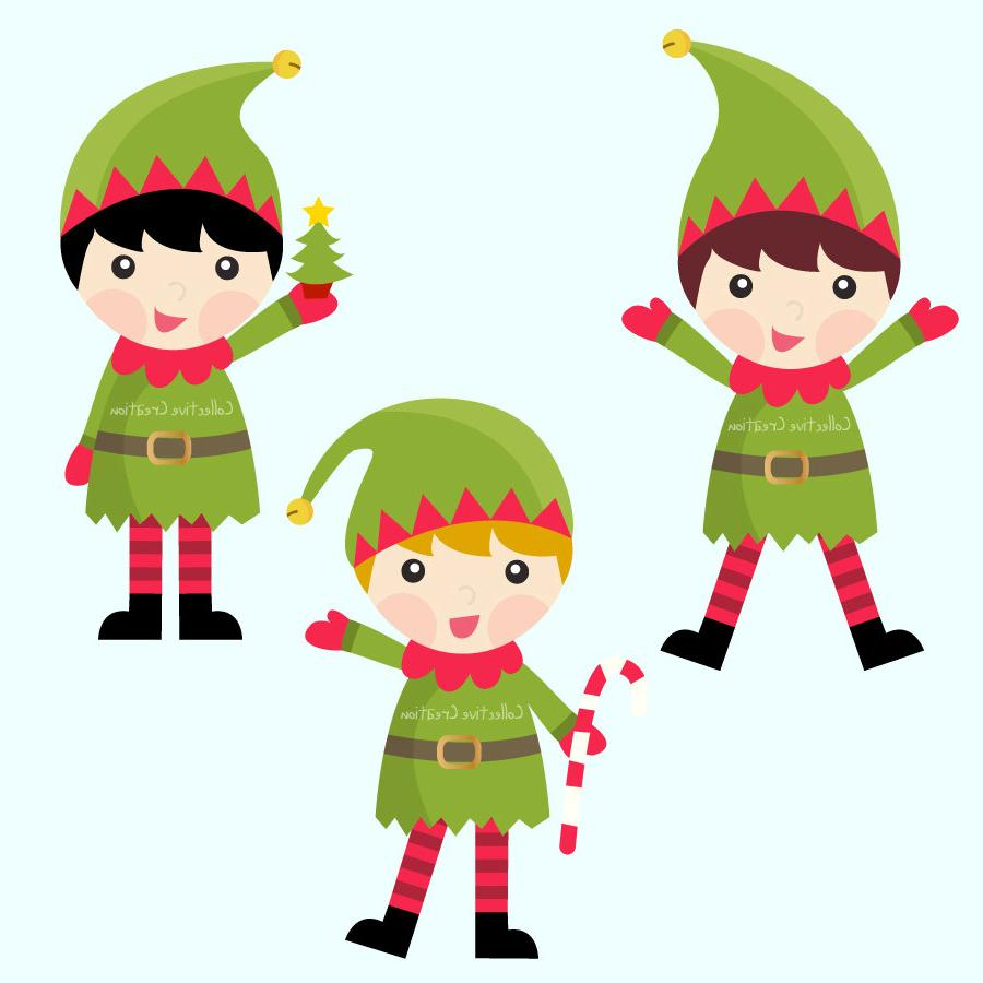 900x900 Unique Elf Christmas Elves Clipart Library