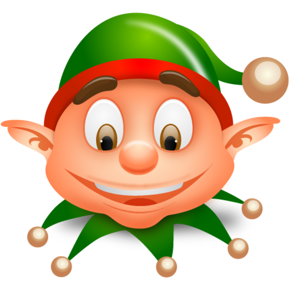600x600 Elf Clipart Silly