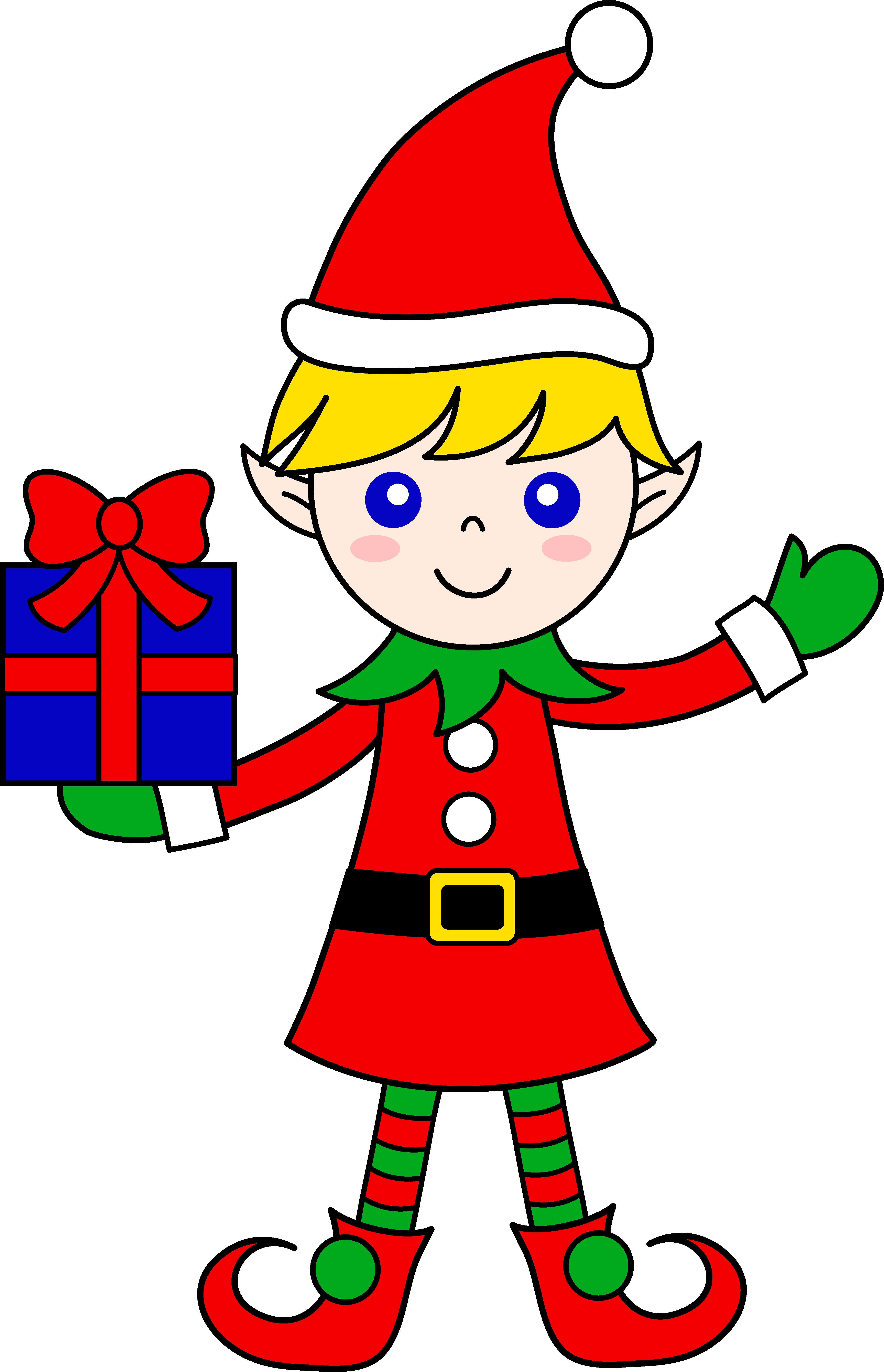 4339x6733 Christmas Elves Clipart