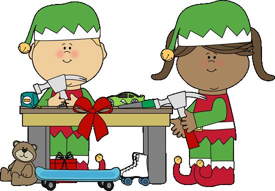 550x383 Elf Clipart Santa's Workshop