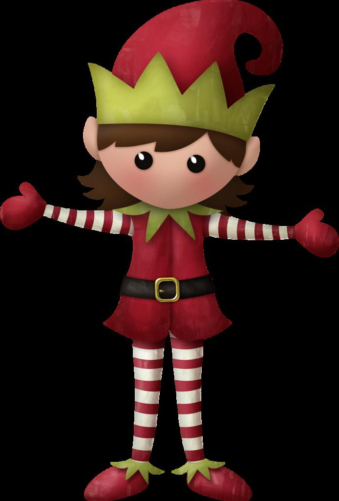 694x1024 Girl Christmas Elf Clipart