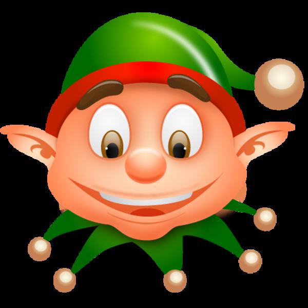 600x600 Christmas Elf Clip Art Clipart Image