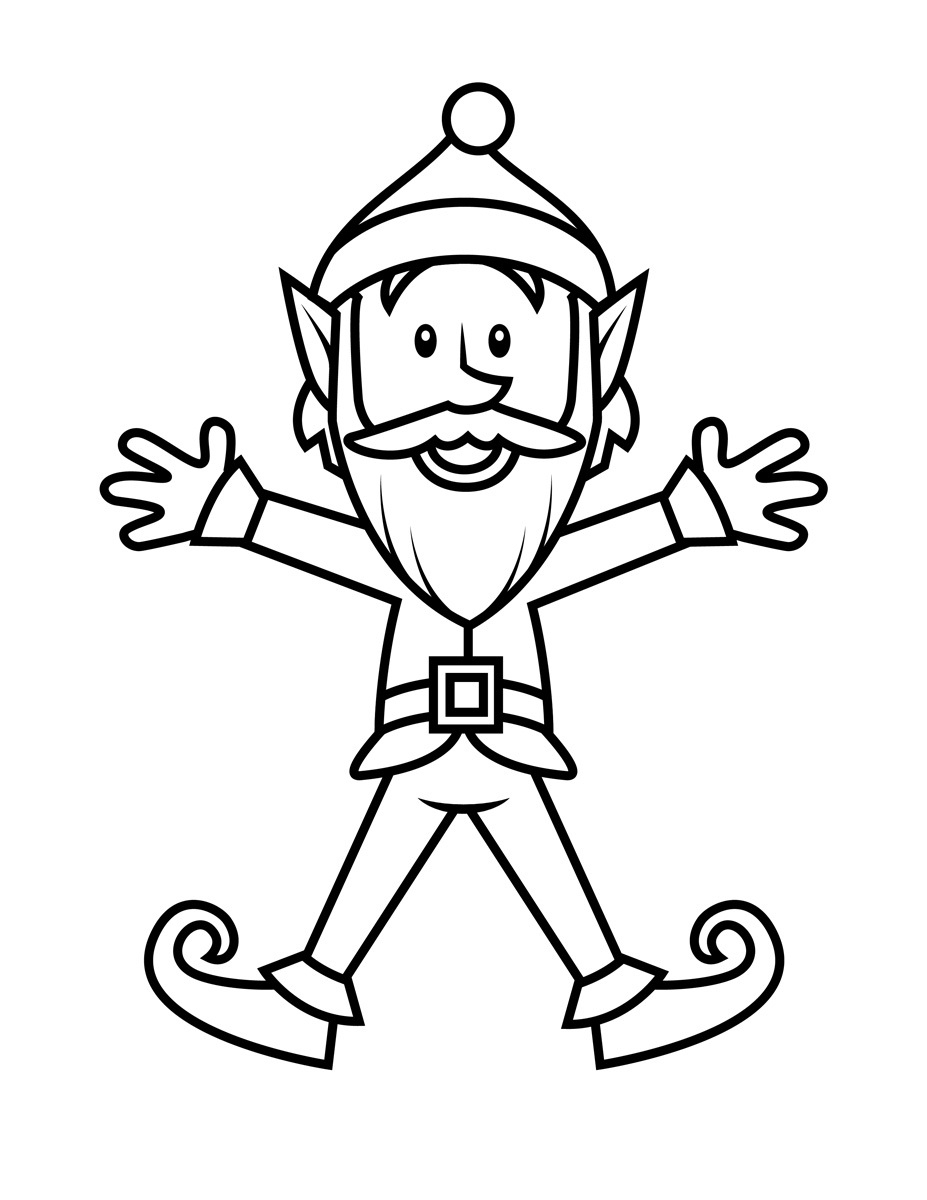 927x1200 Coloring Pages Of Elves Christmas Girl Elf Coloring Pages