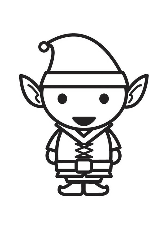 531x750 coloring page elf - Coloring Pages Elf