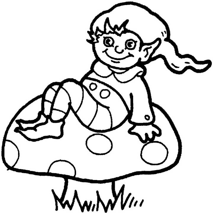 720x723 Elf Coloring Page For Kids