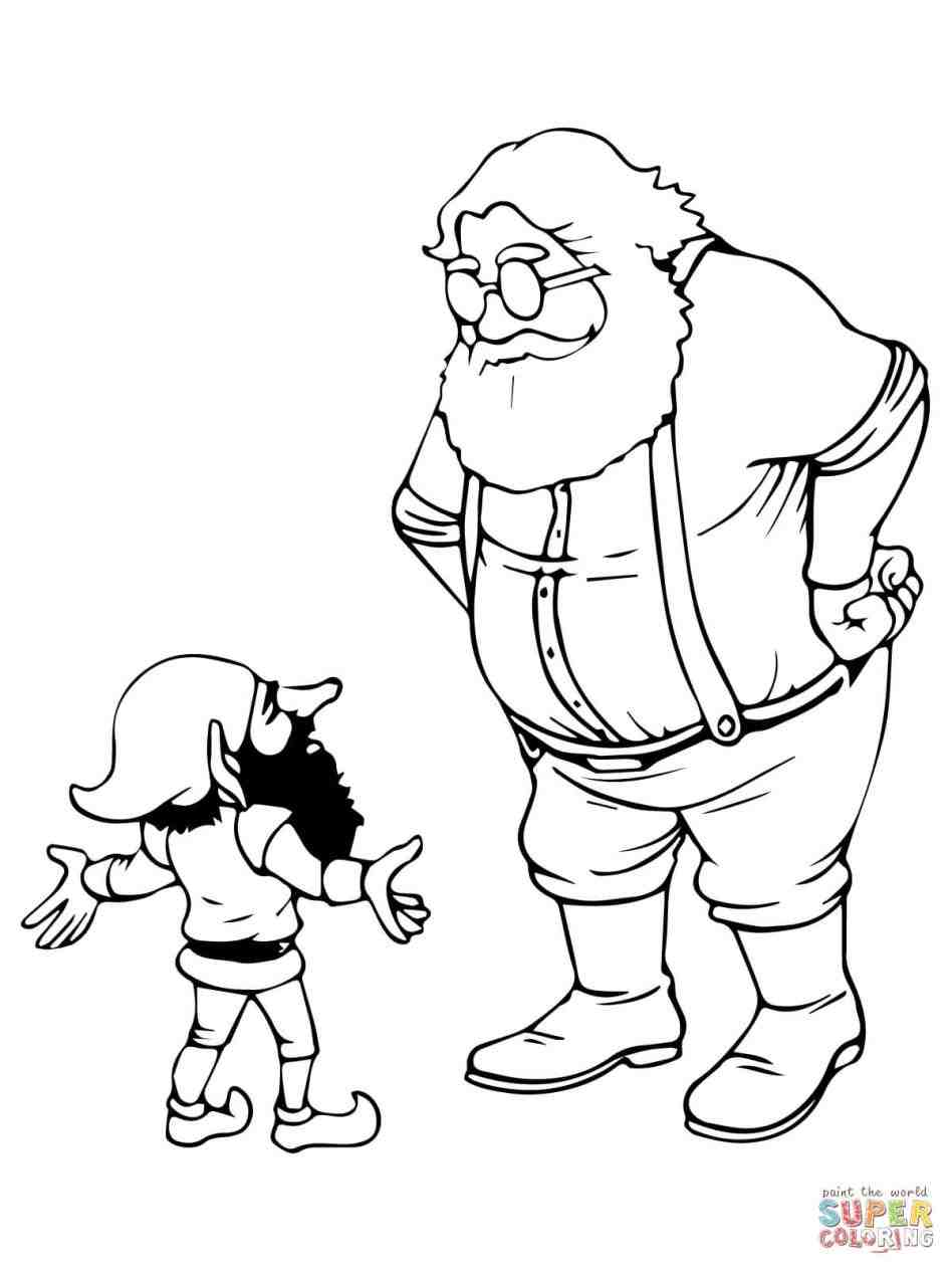 948x1264 Elves Working And Elf Coloring Page Free Printable Pages Cliparts
