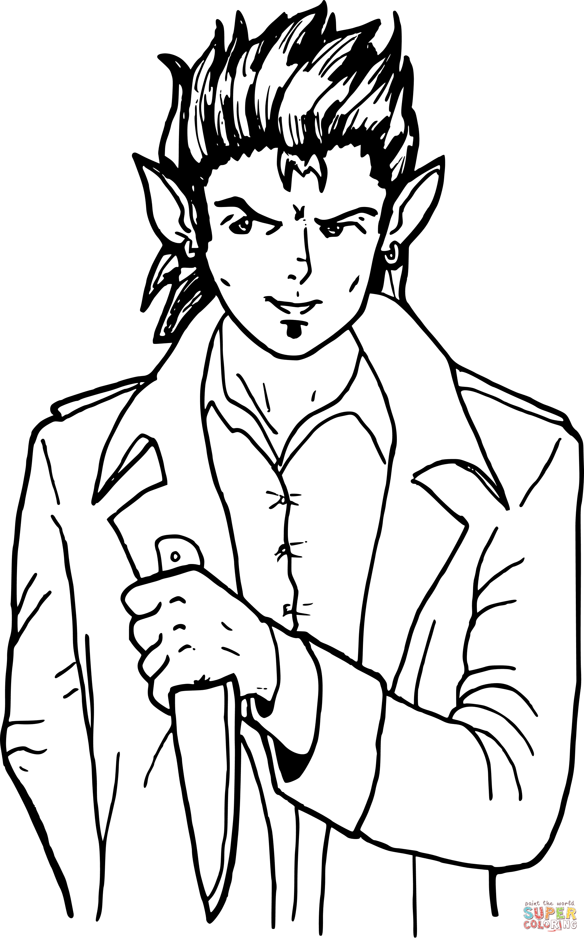 2000x3213 Half Elf Coloring Page Free Printable Coloring Pages
