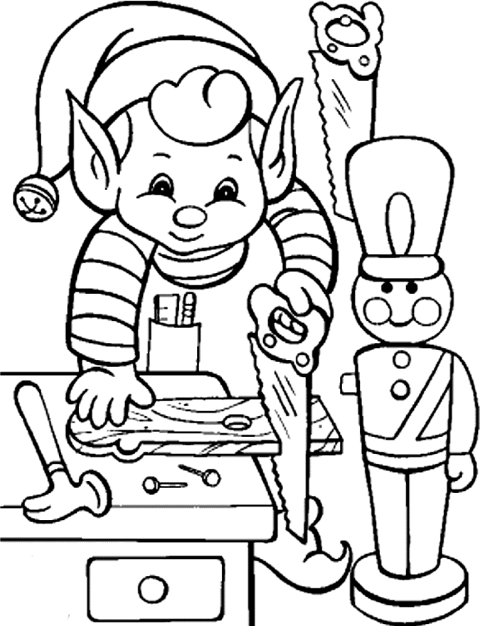 675x880 Printable Activity Elves In Christmas Coloring Pages