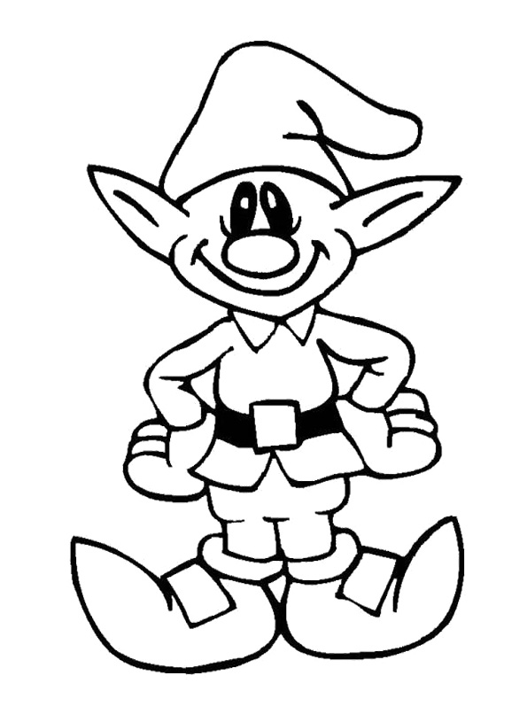 595x815 Printable Cute Elves Christmas Coloring Pages Christmas