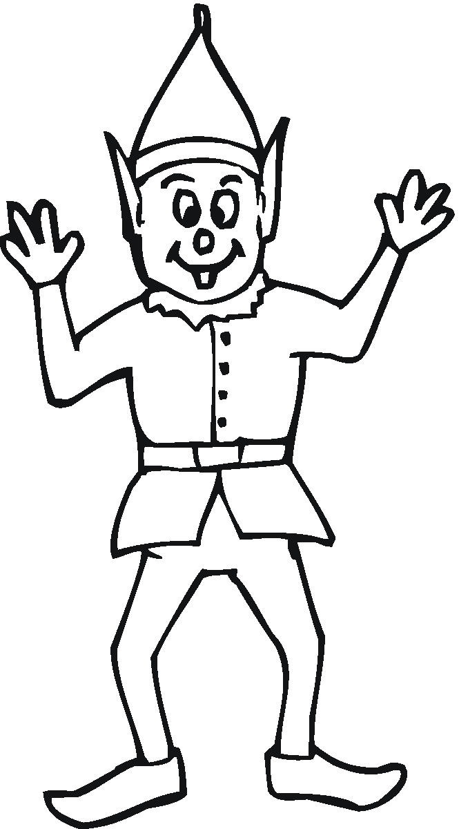 665x1200 Beautiful Elf Coloring Page 68 For Your Line Drawings With Elf