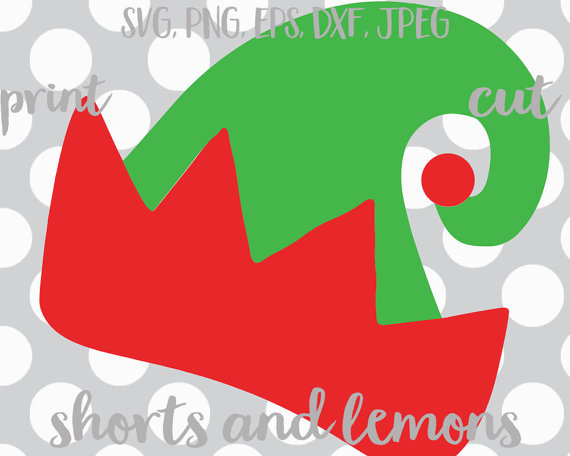570x456 Elf Svg, Elf Hat Svg, Christmas Monogram Svg, Elf Clip Art, Svg