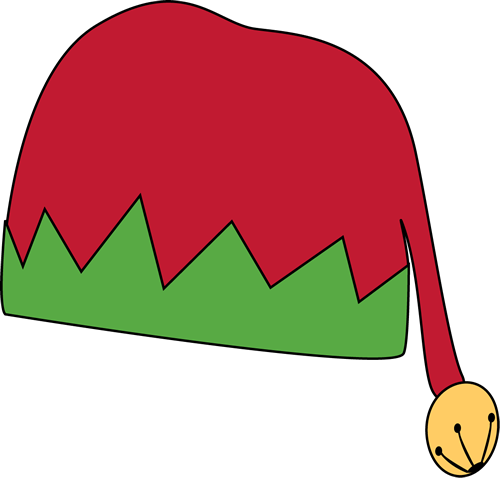 500x478 Red And Green Elf Hat Clip Art