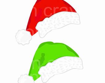 340x270 Santa Hat Clip Art Etsy