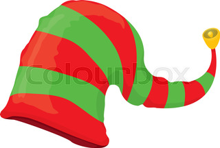 320x216 Christmas Hats Clip Art. Vector Cartoon Illustration With Simple