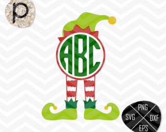 340x270 Elf Svg Elf Hat Svg Christmas Monogram Svg Elf Clip Art