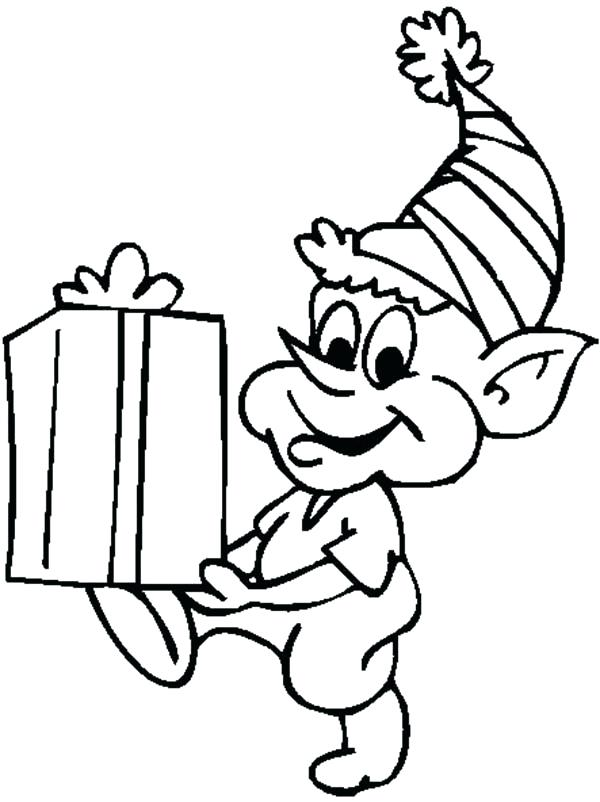 600x802 Elf Coloring Pages For Kids