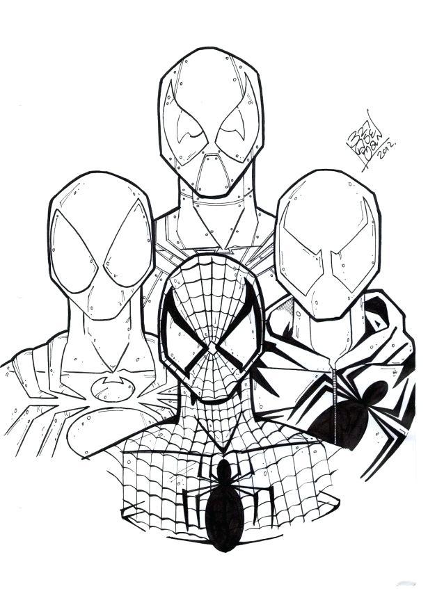 615x847 Spiderman Printable Mask
