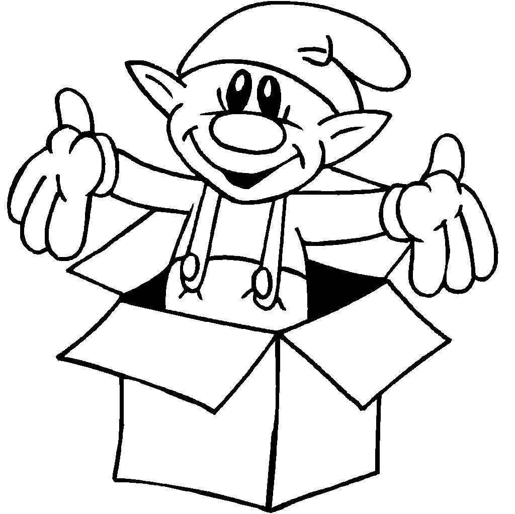 1024x1022 Christmas Elves Coloring Pages