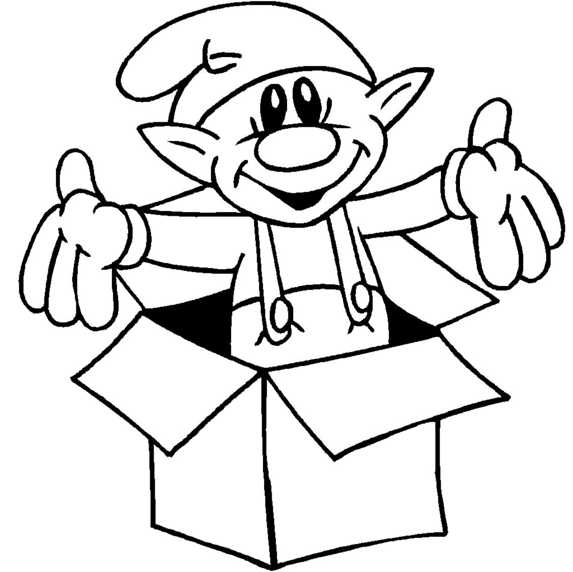 1126x1124 Coloring Pages Christmas Elf Simple Colorings