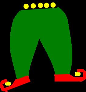 282x299 Elf Pants With Shoes Clip Art