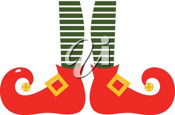 350x231 Clip Art Illustration Of Christmas Elf Shoes