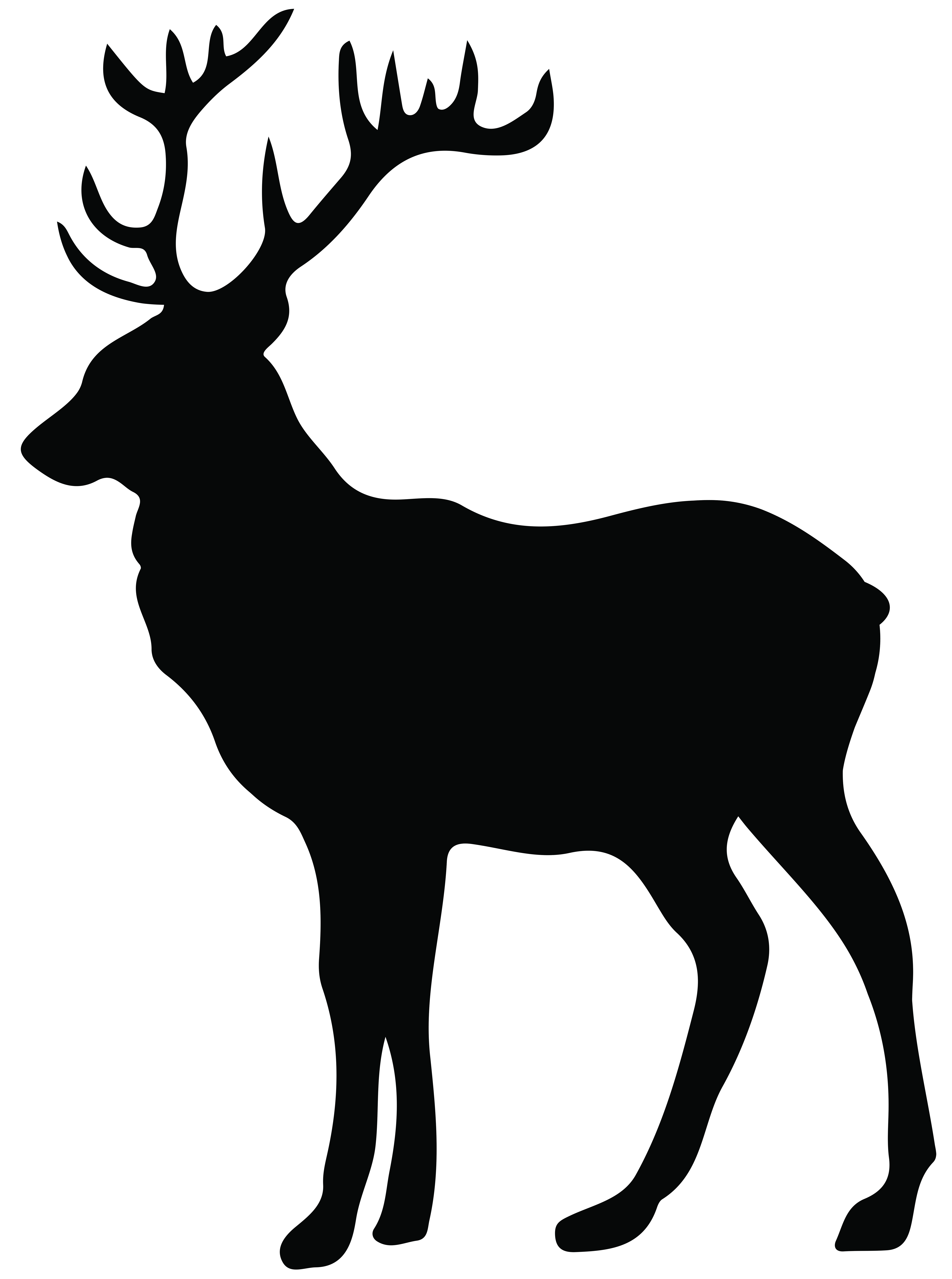 5953x8000 Elk Clipart Stag