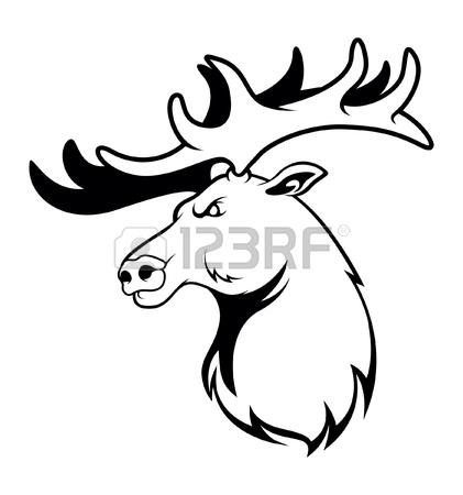 421x450 Elk Clip Art