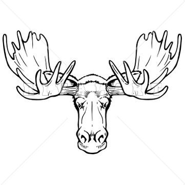 Elk Clipart Black And White