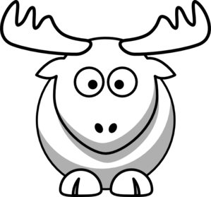 299x279 Elk Outline Clip Art