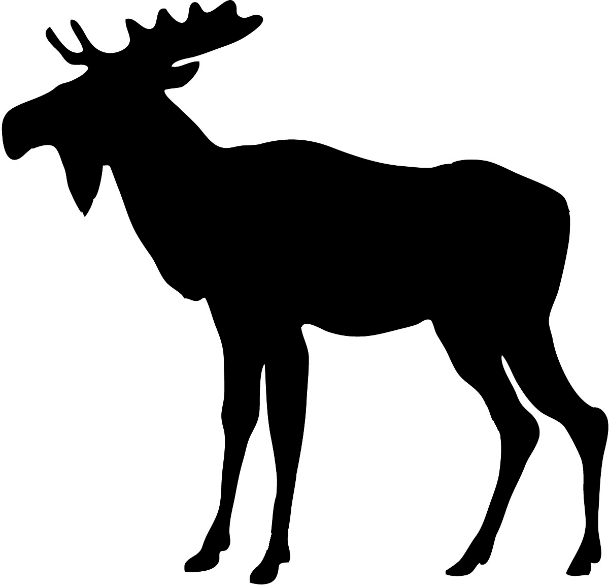 1200x1153 Free Moose Clipart Black and White Image