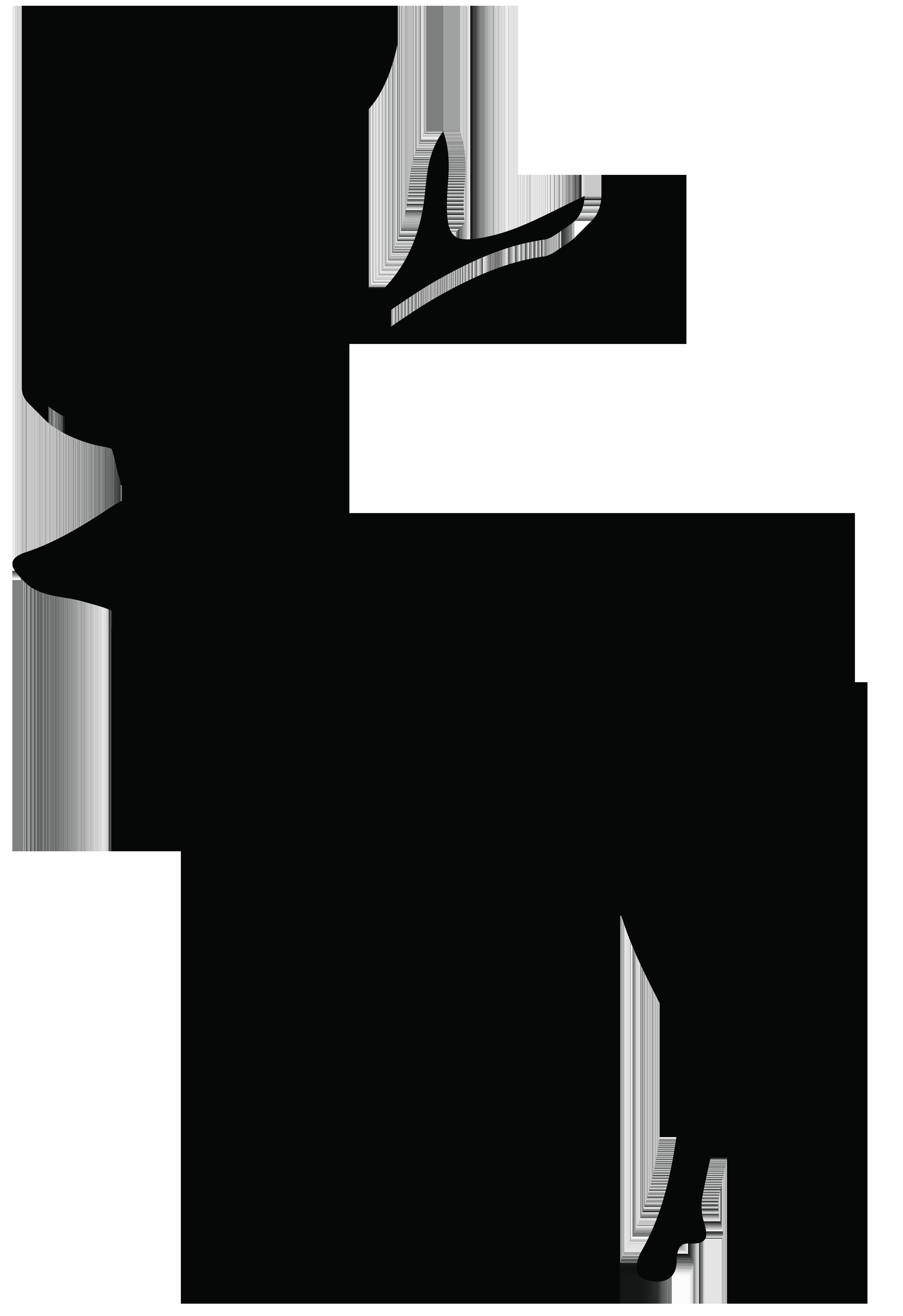 5487x8000 Buck Clipart Silhouette
