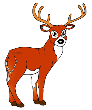 300x360 Free Deer And Elk Clip Art By Phillip Martin