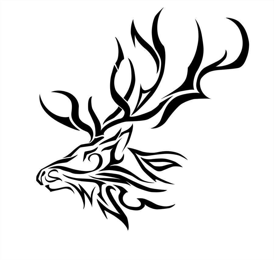 900x853 Drawn Elk Face