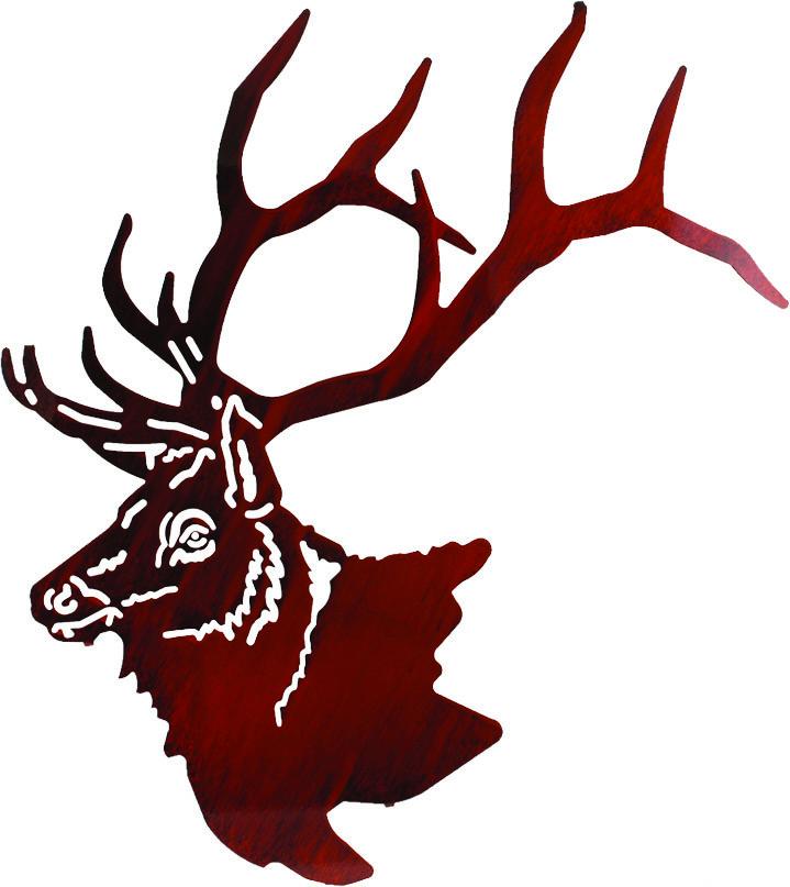 719x807 Elk Head Silhouette