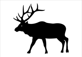331x231 Elk Silhouette Clip Art
