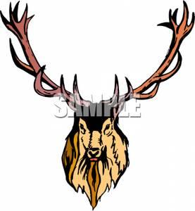 277x300 Head Of An Elk Clip Art Image