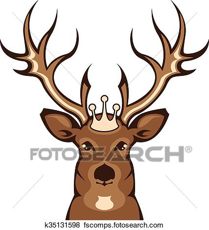 427x470 Stylized Buck Head Clip Art And Illustration. 58 Stylized Buck