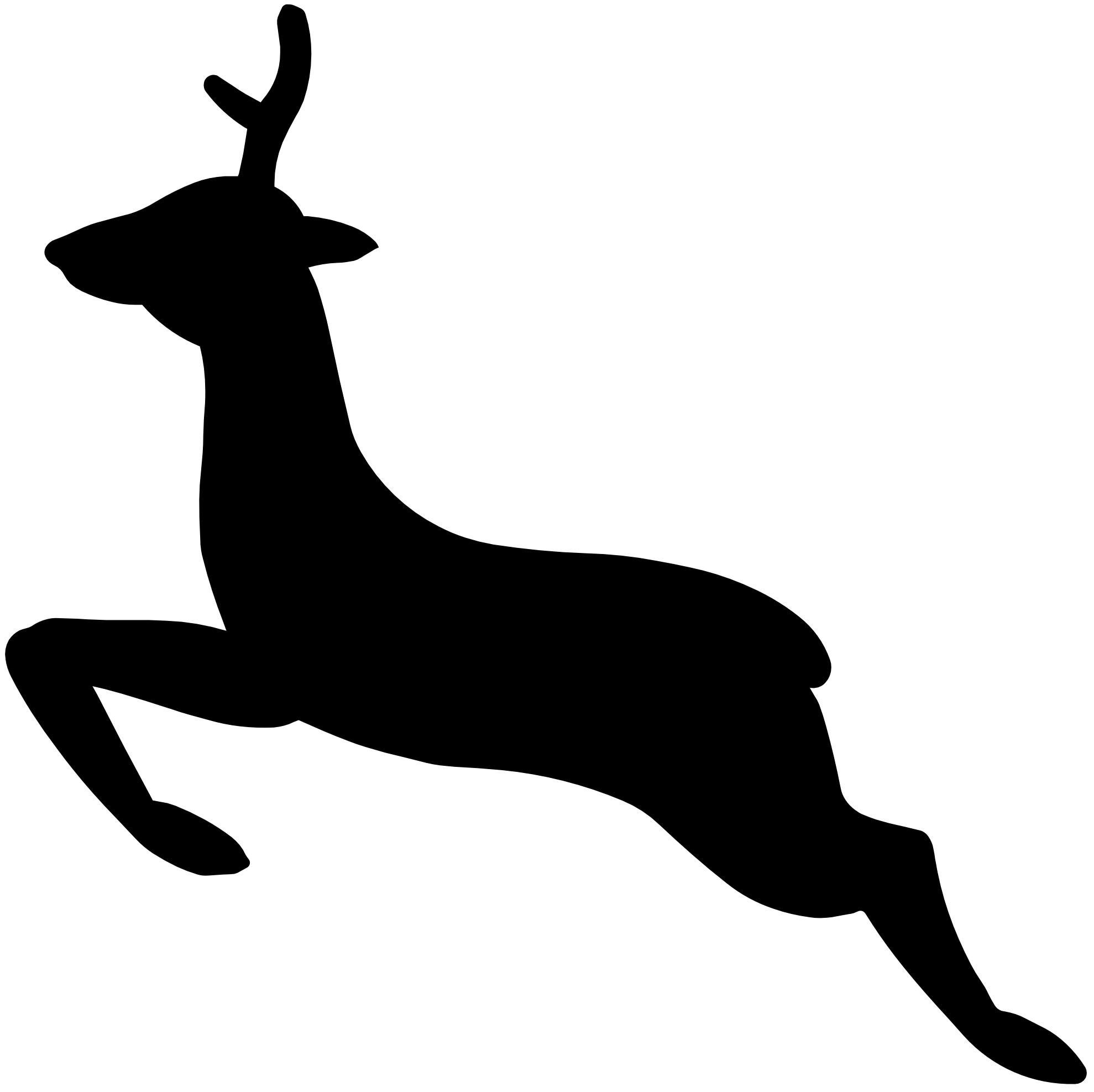 1979x1975 White Stag Cliparts 275132