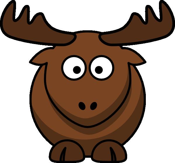 600x559 Cartoon Elk Clip Art Free Vector 4vector