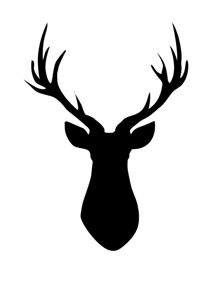 736x1030 Deer Head Silhouette Clip Art