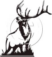 183x200 Elk Clipart