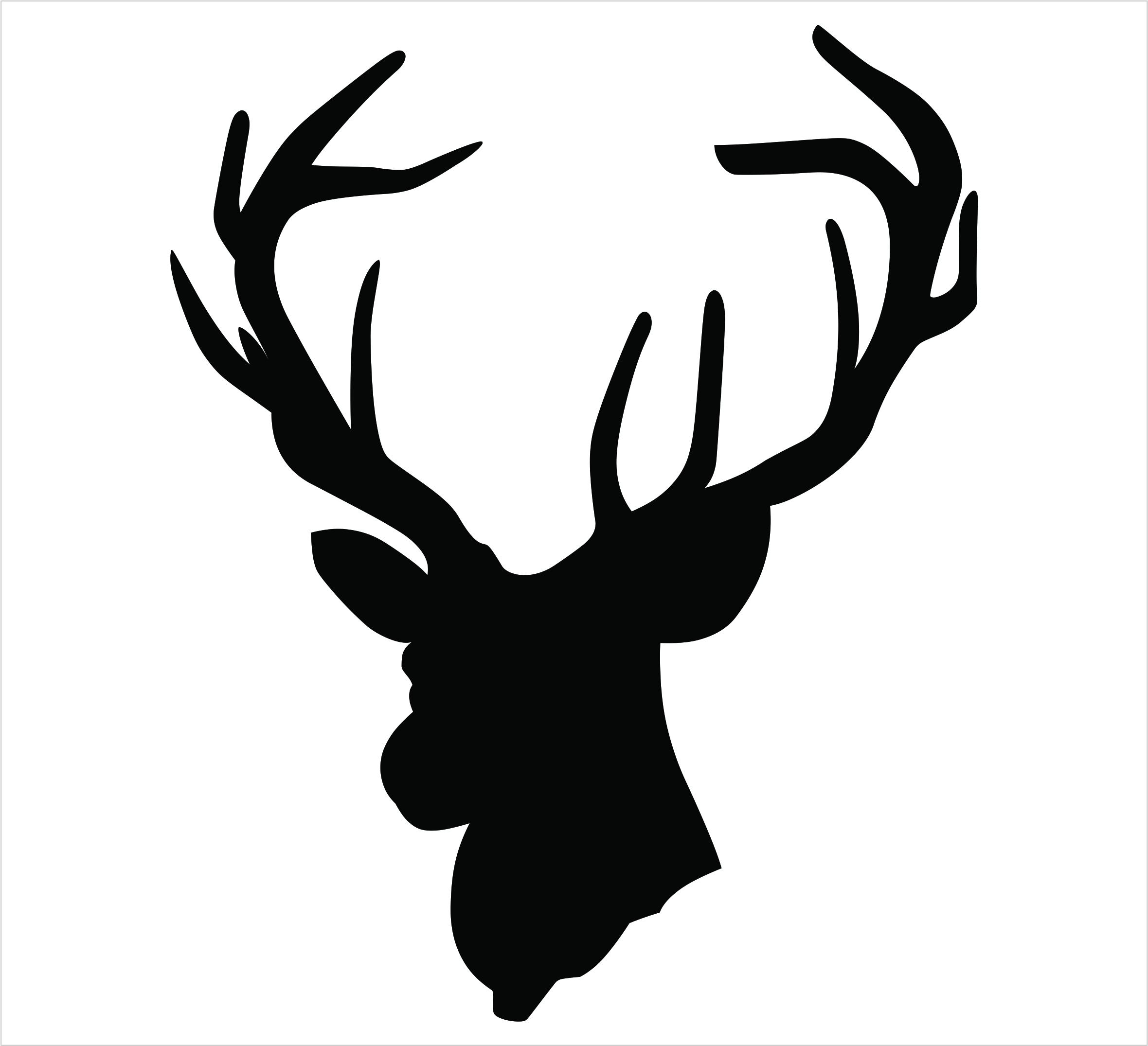 2360x2151 Hd Head Silhouette Deer Outline File Free
