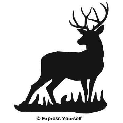 400x400 Joe's Mule Deer Buck Silhouette, Mule Deer Coloring Page 400x400px
