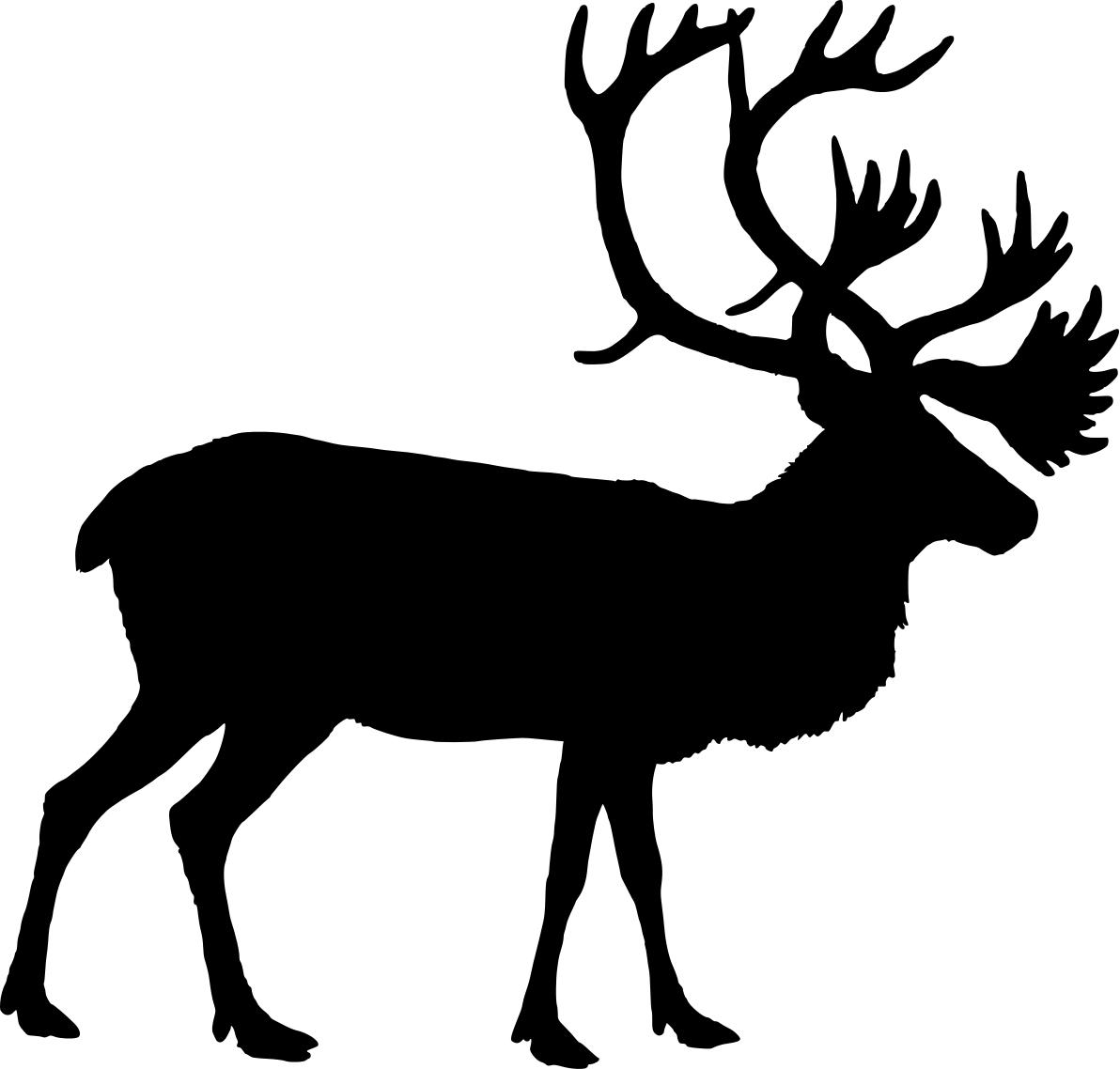 1192x1138 Best Photos Of Reindeer Head Silhouette