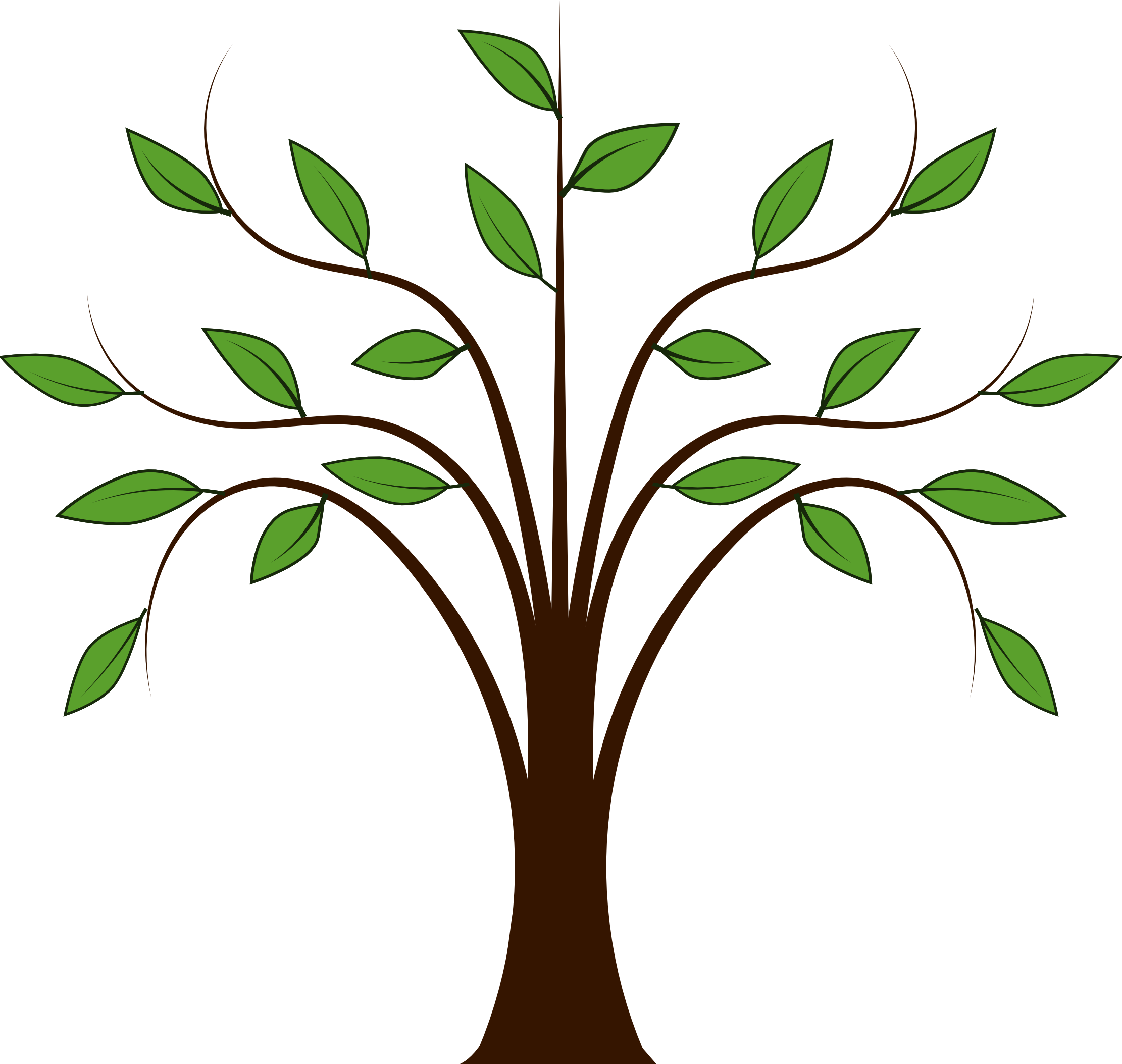 2222x2108 Tree Clipart Vector
