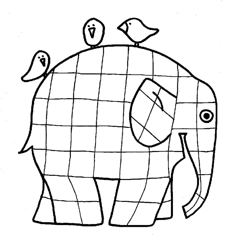 800x800 Elmer Coloring Page Many Interesting Cliparts