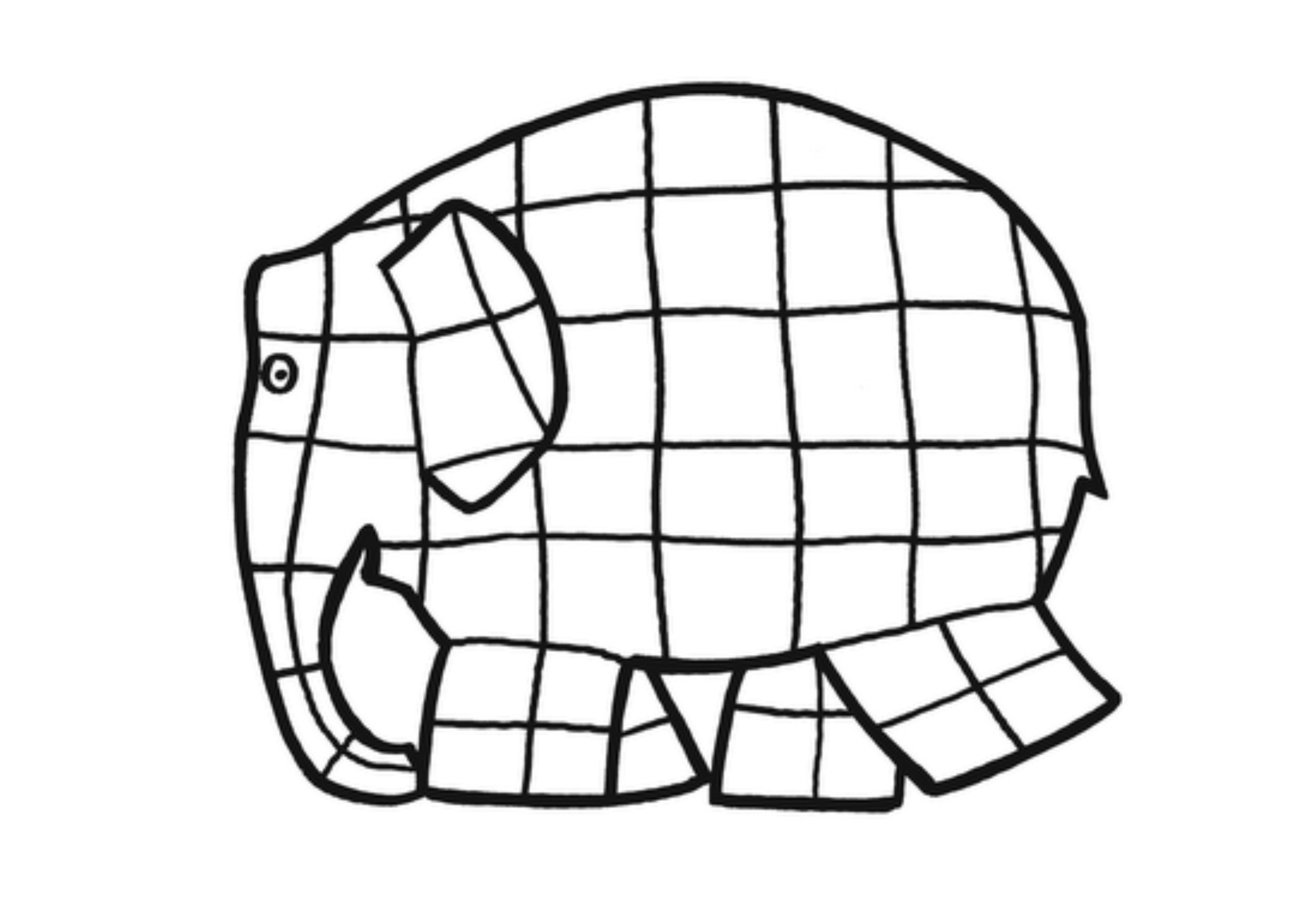 3508x2479 Elmer The Elephant Clipart