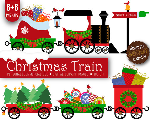 570x456 6 Christmas Train Clipart Xmas Christmas By Paperprintsdesign