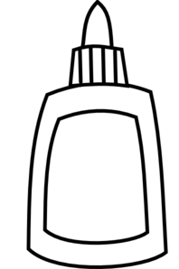 198x298 Blank Glue Bottle Clip Art