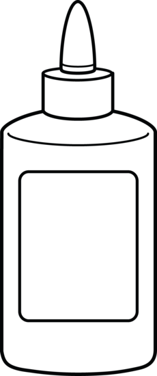 230x550 Bottle Clipart White Glue